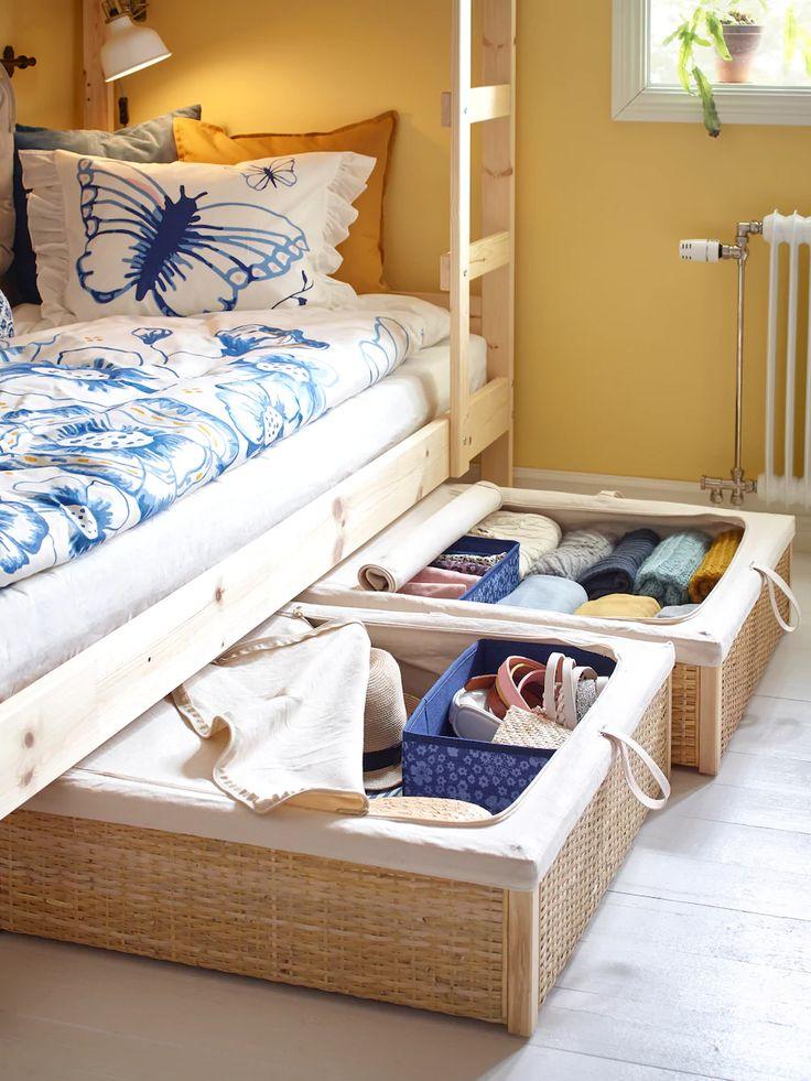 Mydal Bunk Bed Frame Pine 90x200 Cm Ikea Ireland In 2020 Ikea Bunk Bed Small Shared Bedroom Shared Bedrooms