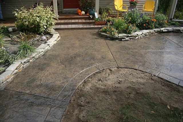 Colored Concrete Patio Ryan Job Seamless Stamped
