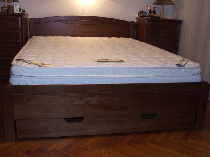 Hagyományos borovi fenyő és bükk ágykeret |
