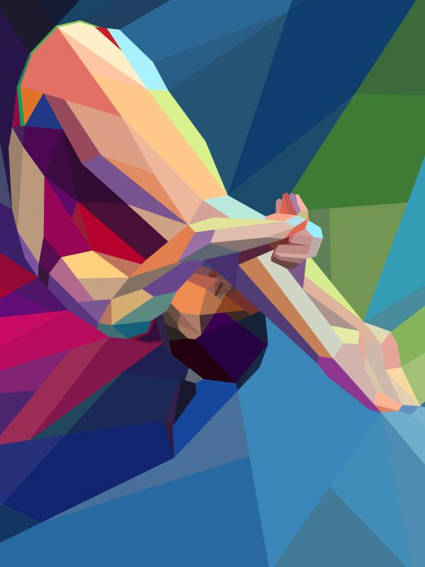 Colourful Geometric Illustrations of London 2012 Olympics by Charis Tsevis