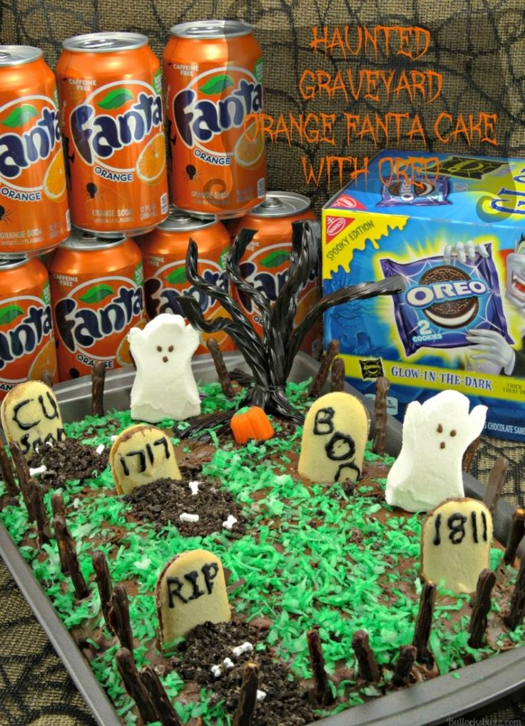 halloween haunted graveyard fanta orange cake w oreos ad walmart