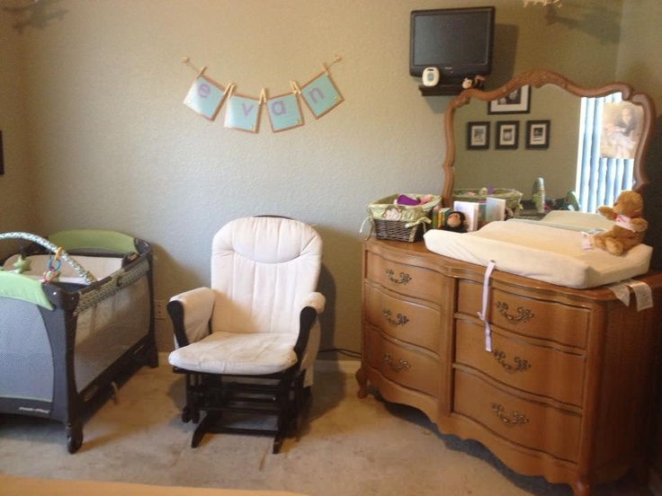 On The Nursery Side, A Dresser Made Into A Changing Table, A Glider,