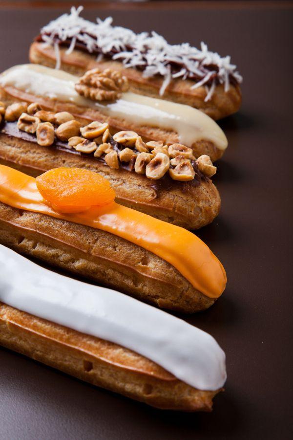 Festival de éclairs na Confeitaria Dama: paçoca, pistache e mais 8 sabores