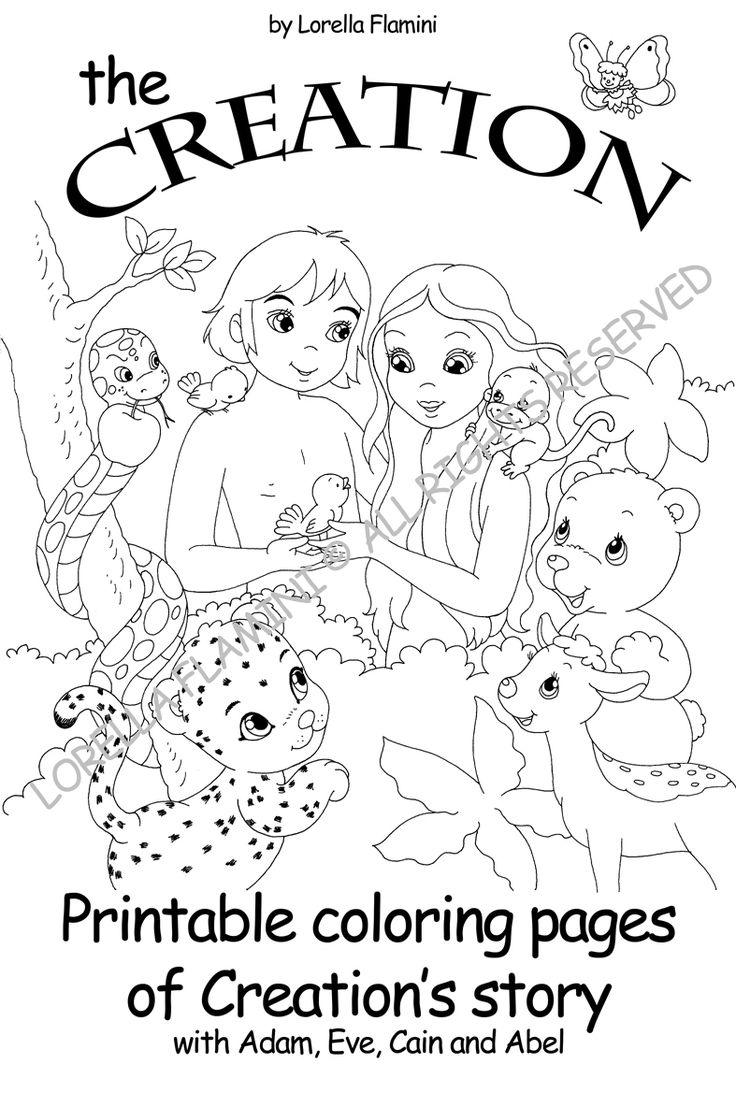 Days Of Creation Bible Coloring Pagesof Free Download ...