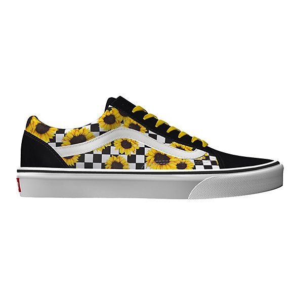 Vans custom sunflower authentic | Sunflower vans shoes