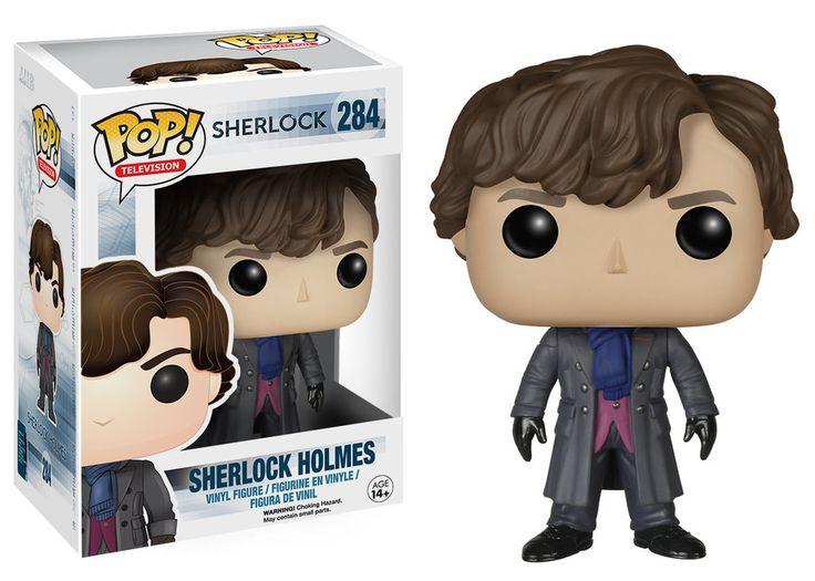 Sherlock TV Show Sherlock Holmes Pop! Television Funko Vinyl Figure New in Box NIP 284 New in Package