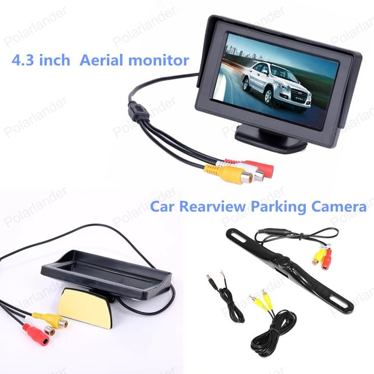 4.3 inch Aerial display rearview FPV HD Waterproof screen monitor  + reverse parking camera  for car parking