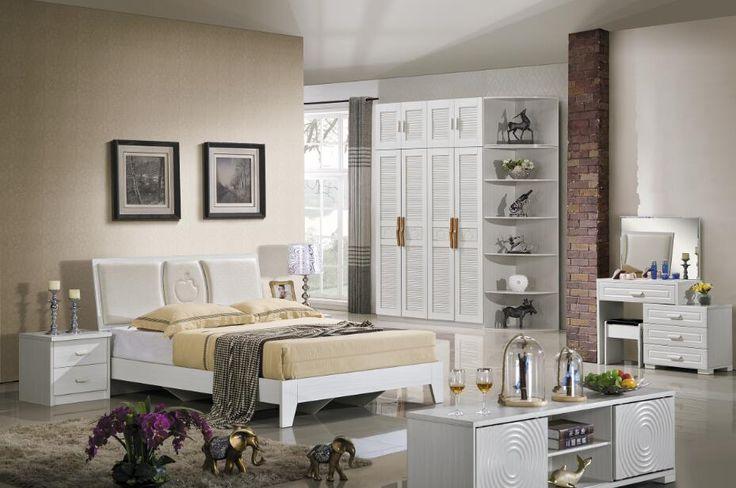 i shaped bedroom set with wardrobe