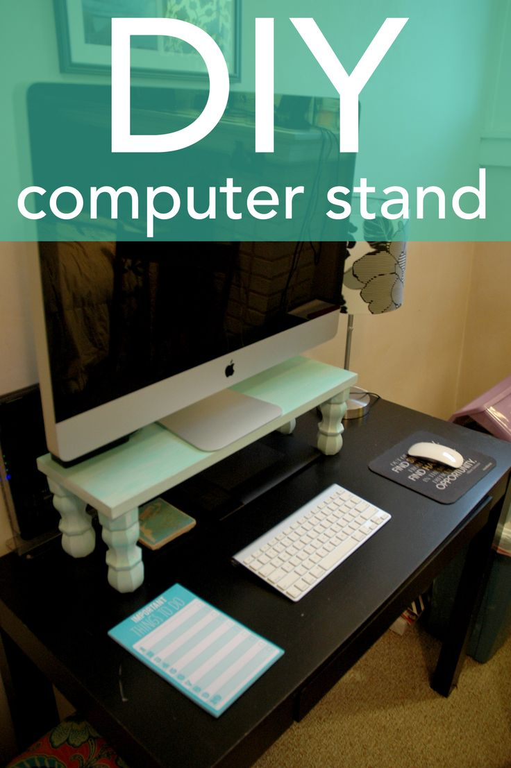 DIY Computer Stand / This tutorial will show you the supplies and step by step instructions on how to make this adorable computer stand for your desk!