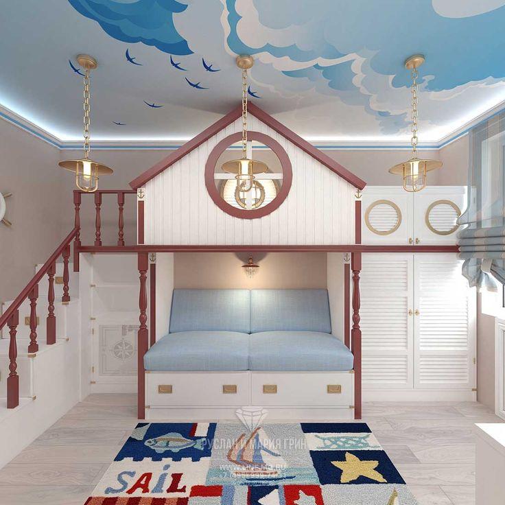 Дизайн детской комнаты для мальчика в голубых тонах http://www.line-mg.ru/dizayn-kvartiry-zhk-dolina-setun