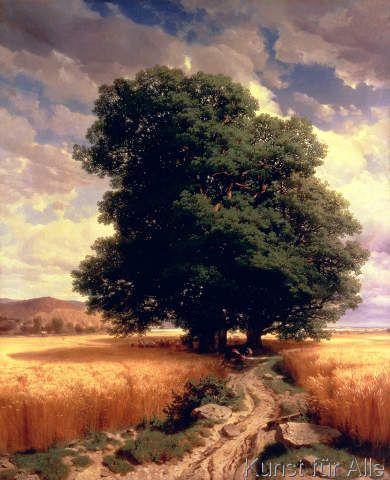 Alexandre Calame - Landscape with Oaks, 1859