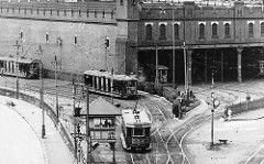Fort Macquarie Tram Depot in Circular Quay,Sydney (year unknown).