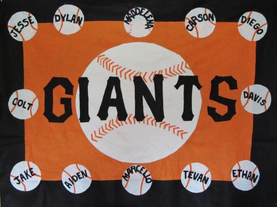 baseball / softball sports team banners personalized by feltdeluxe