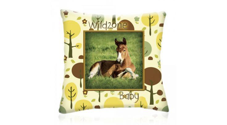WILD ZONE Baby LOVACSKA állatos díszpárna 28x28 cm, Diszparna.com I Díszpárna webáruház