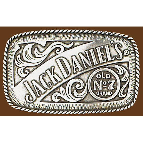 Mens Ladies Jack Daniels Square Pewter Belt Buckle G-5007 | Buffalo Trader Online
