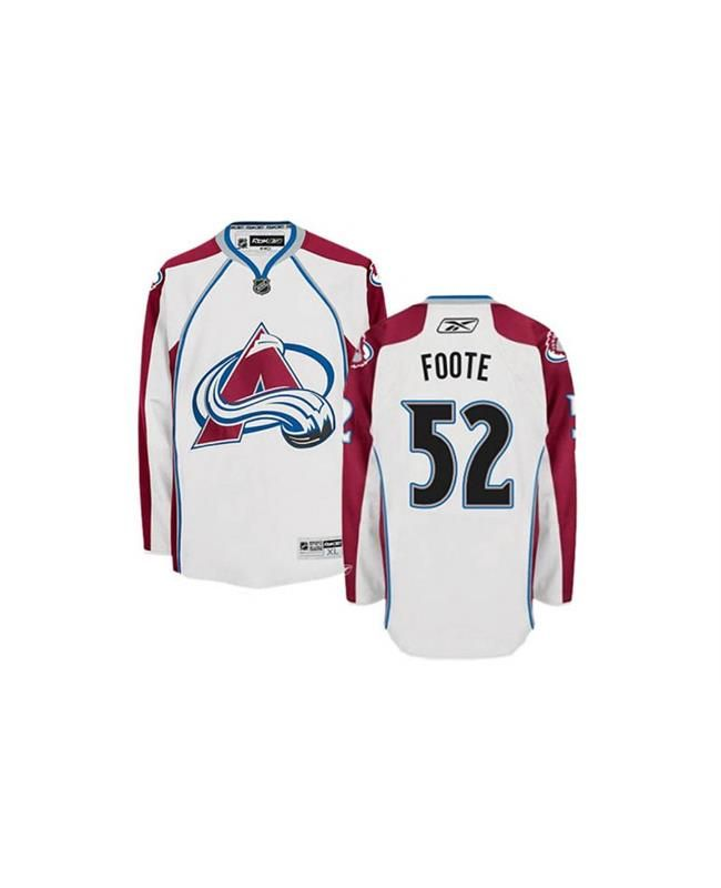 #ColoradoAvalanche#52 #Jersey #AdamFoote#Jersey #AdamFooteFans #Jersey To find this great Adam Foote White Away Jersey in our shop. The Colorado Avalanche is a wonderful to let you follow by. When you rock this Colorado Avalanche jersey, it will become the new equipment darling as it features big Adam Foote number and name both on the back and front. Besides, you will fond of it with soft material and easily movement as well.