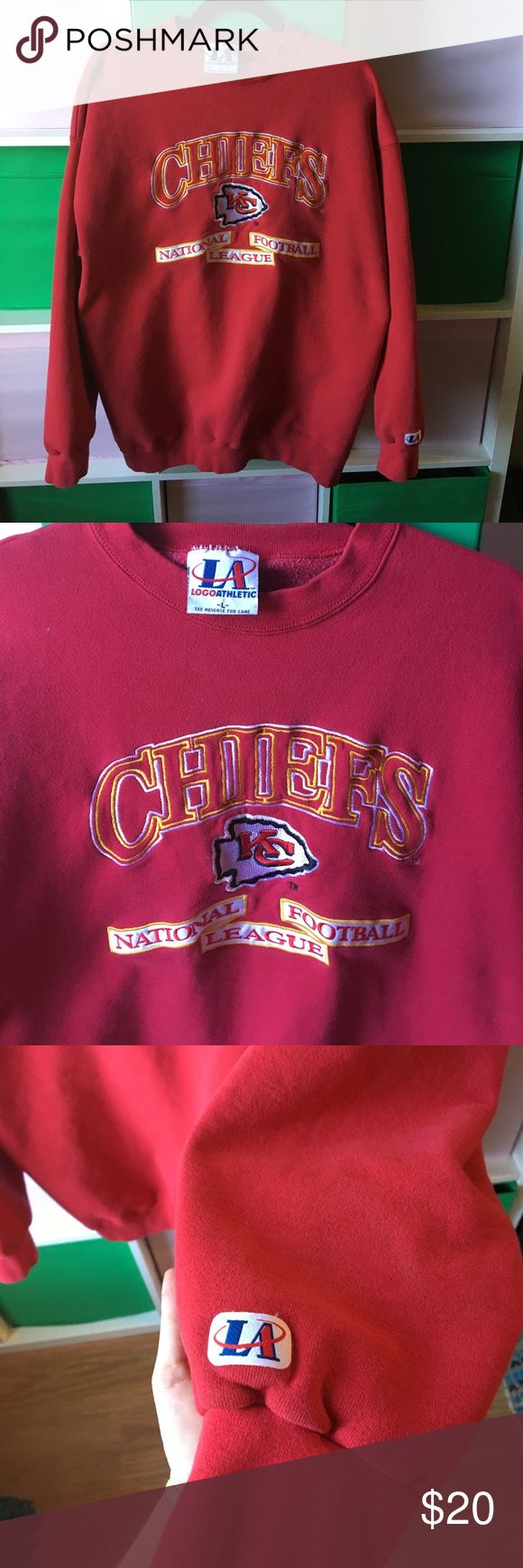 Vintage KC Kansas City Chiefs NFL sweatshirt Awesome vintage KC sweater. No piling or flaws. Show your KC NFL pride Jackets & Coats