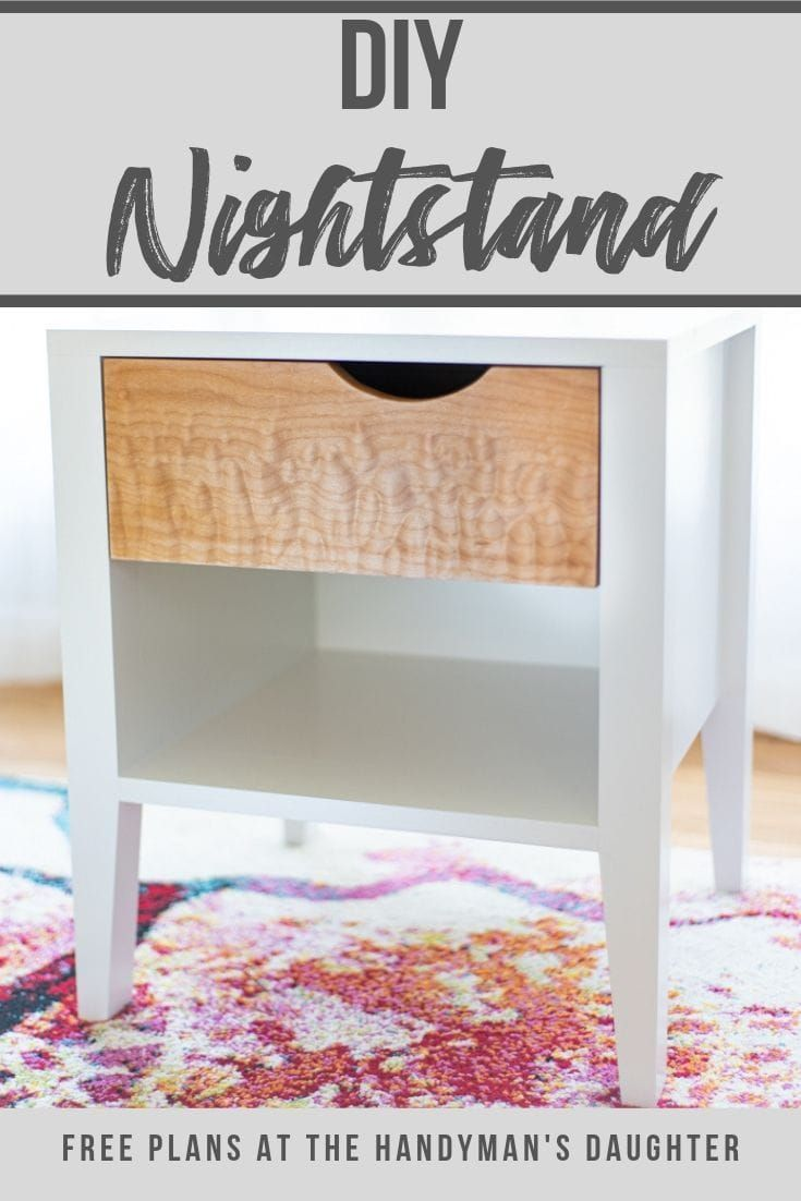 Diy Nightstand With Notched Drawer In 2020 Diy Nightstand Woodworking Plans Free Diy Furniture