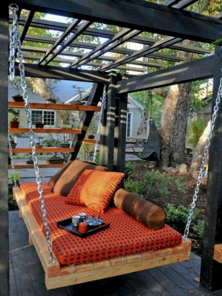 Cool 38 Inspiring Swing Chairs Ideas for Garden. More at http://trendecor.co/2017/11/13/38-inspiring-swing-chairs-ideas-garden/