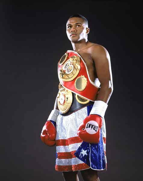 Felix Trinidad, the Puerto Rican Boxing Legend. Trinidad had some power and moved up quickly.
