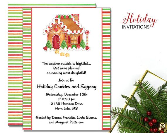 14 best gingerbread party images on pinterest gingerbread houses gingerbread house invitations christmas party printable digital file ci247diy filmwisefo Images