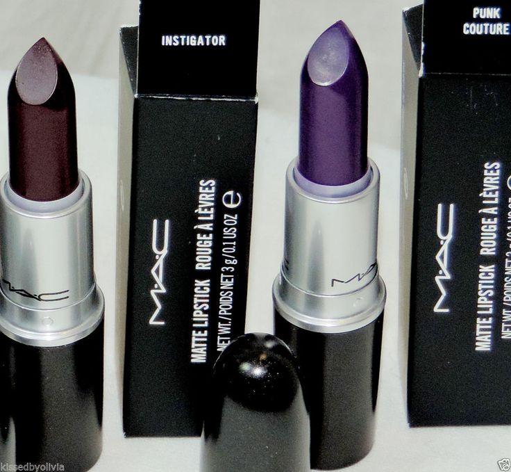 MAC Instigator +Punk Couture purple Matte Lipstick SET Combo Punk Couture AUTHEN #MAC