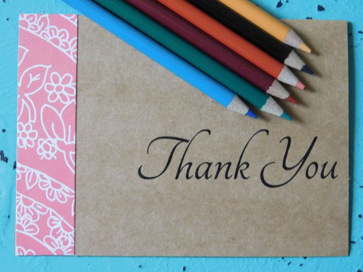 Thank You Cards, Thank You Notes, Blank Notecards, Notecards, Custom Thank You Cards, Kraft Paper, Outline, Lined Envelopes, Stationery by SweetTartsBoutique on Etsy
