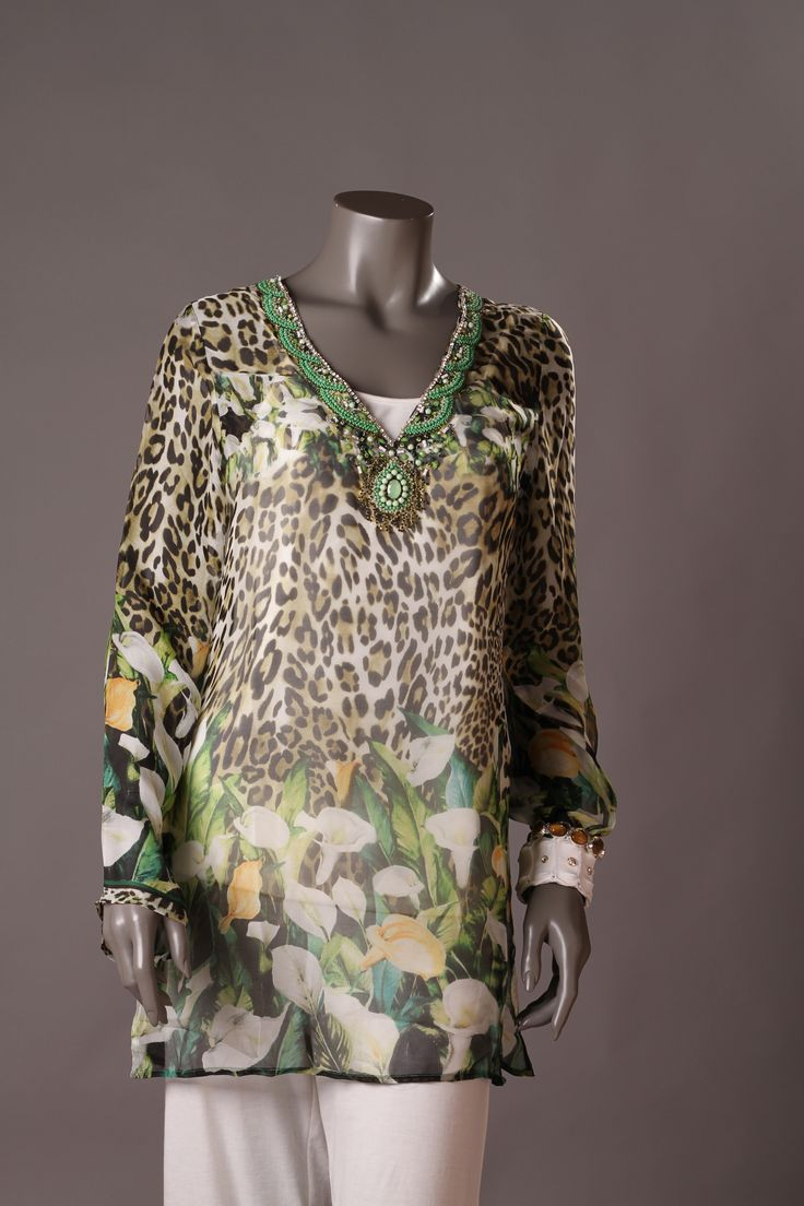 Tunic Silk Beach Turtle