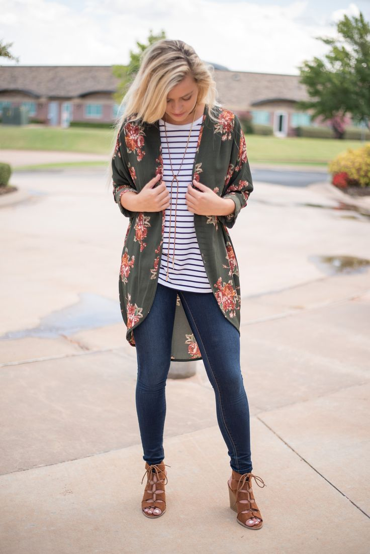 Get Free Traffic To Clickbank And Floral olive printed cuffed cardigan. A best selling cardigan is now available i... >>> Figure out more by clicking the photo