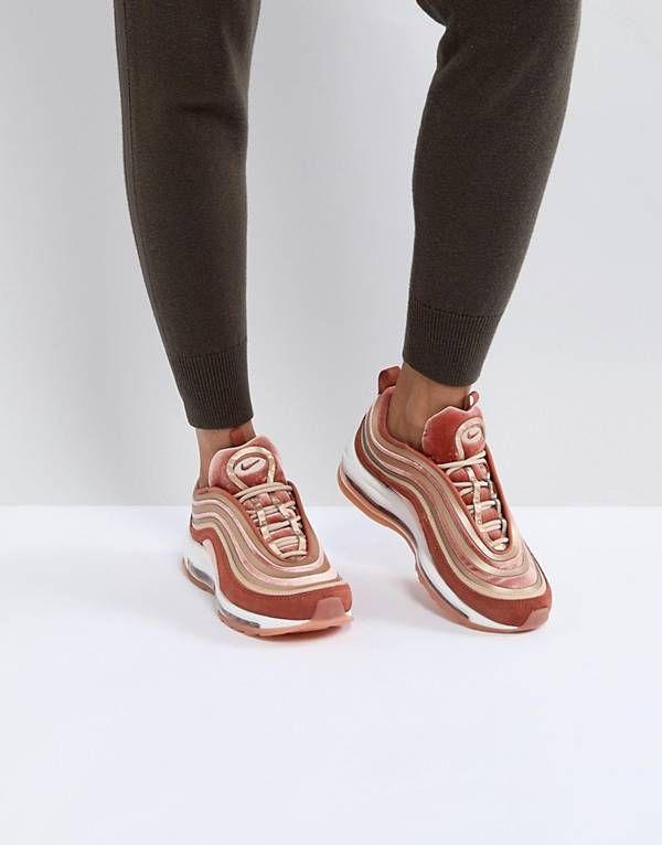 ece7166f69 Nike Air Max 97 Ultra '17 Velvet Trainers In Dusty Peach | kengät ...