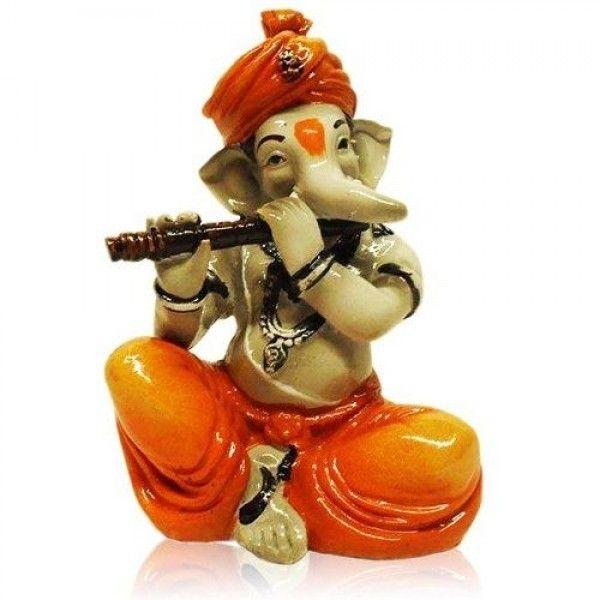 Fiber Ganesha Playing Basuri