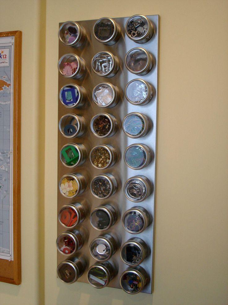 Magnetic Tins Diy Craft Organization Craft Storage