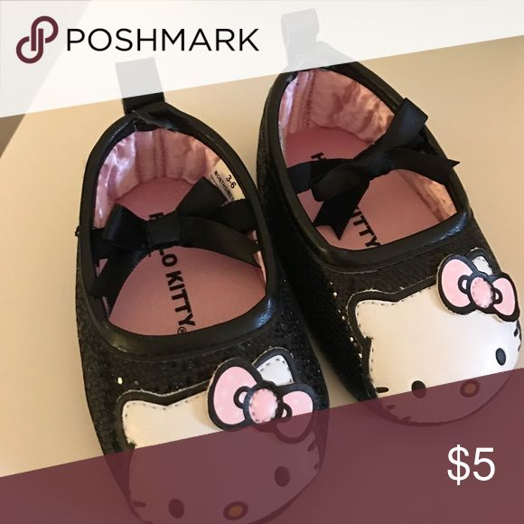 Hello Kitty Baby walker shoes Size 3-6 M elastic slip on baby walker shoes. Soft soles. Shoes Baby & Walker