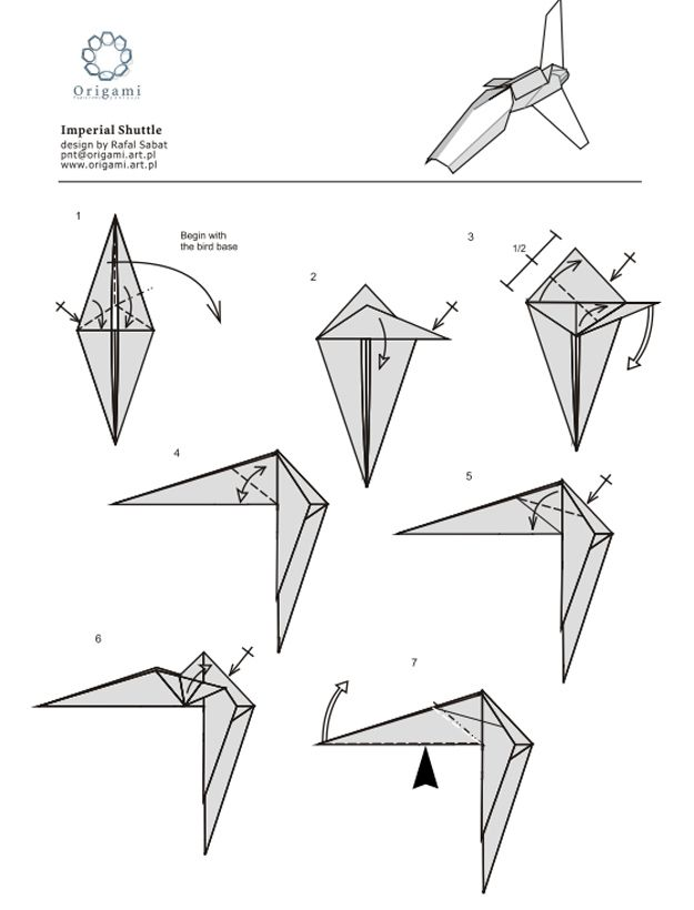 "Imperial Shuttle | 10 Diagrams To Create Your Own ""Star Wars"" Origami"