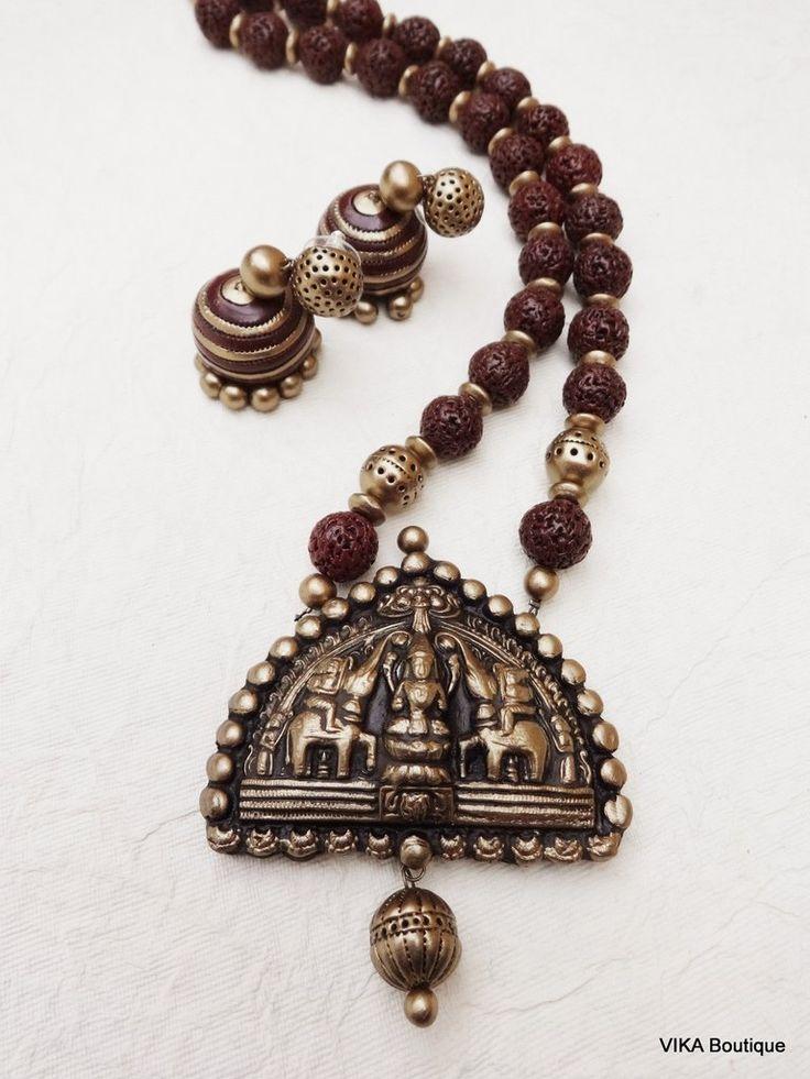 Terracotta jewellery set