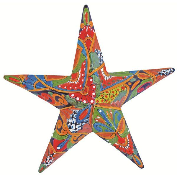 Hand Painted In Beautiful Vibrant Colors, This Talavera Star Will Add  Interest To Your Home Or Garden.