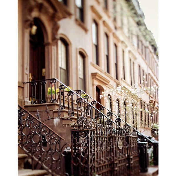 The Apartment - NYC Print, Carrie Bradshaw's Apartment in Greenwich... (€27) ❤ liked on Polyvore featuring backgrounds, pictures, photos, places and city