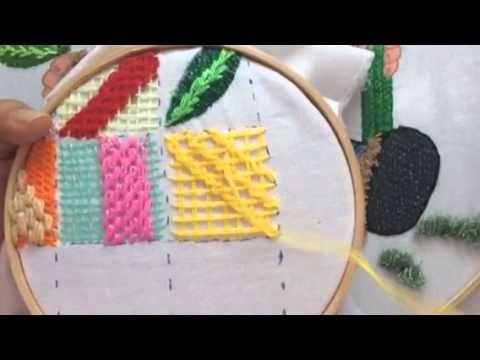 114.- Bordado Fantasia delantal de la patita - YouTube