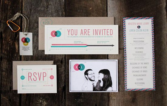 Infographic Wedding Invitations