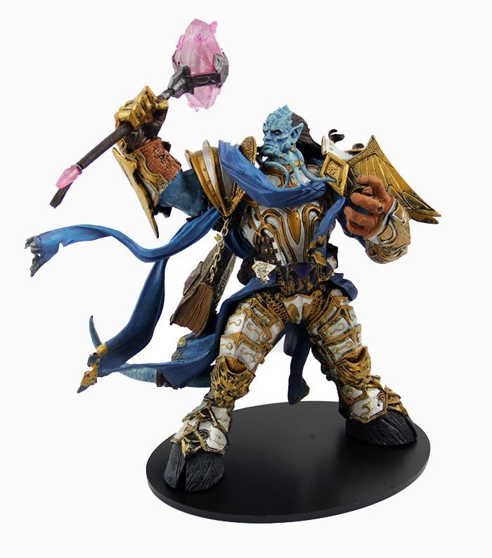 42.99$  Watch more here - http://aihri.worlditems.win/all/product.php?id=32685797603 - Wow DC Unlimited Series 2 Deluxe Boxed Action Figure 10 inch Draenei Paladin [Vindicator Maraad] WOW PVC Toy Figure KB0713