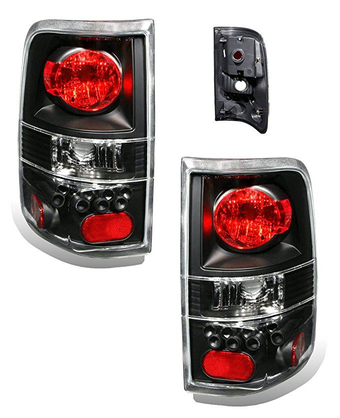 Sppc Black Euro Tail Lights Assembly Set For Ford F 150 Pair Driver Left And Passenger Right Side Replacement Ford F150 Tail Light Lights