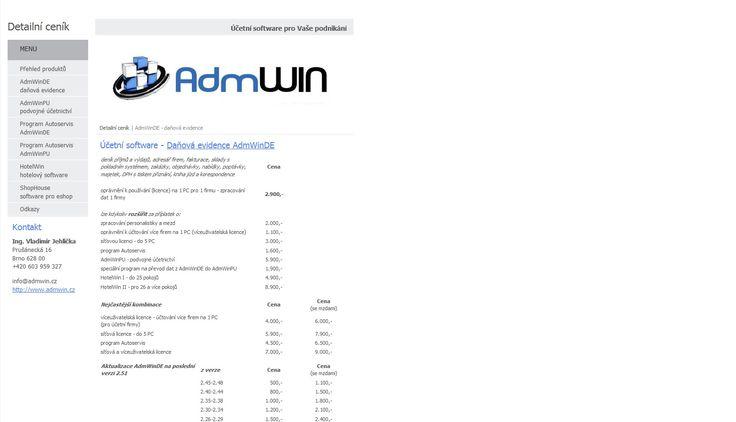 Účetní software pro daňovou evidenci - ceny