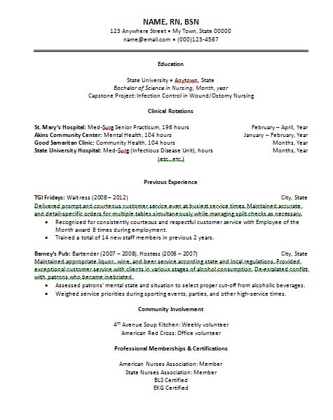 25 best ideas about Rn resume – Registered Nurse Resume Examples