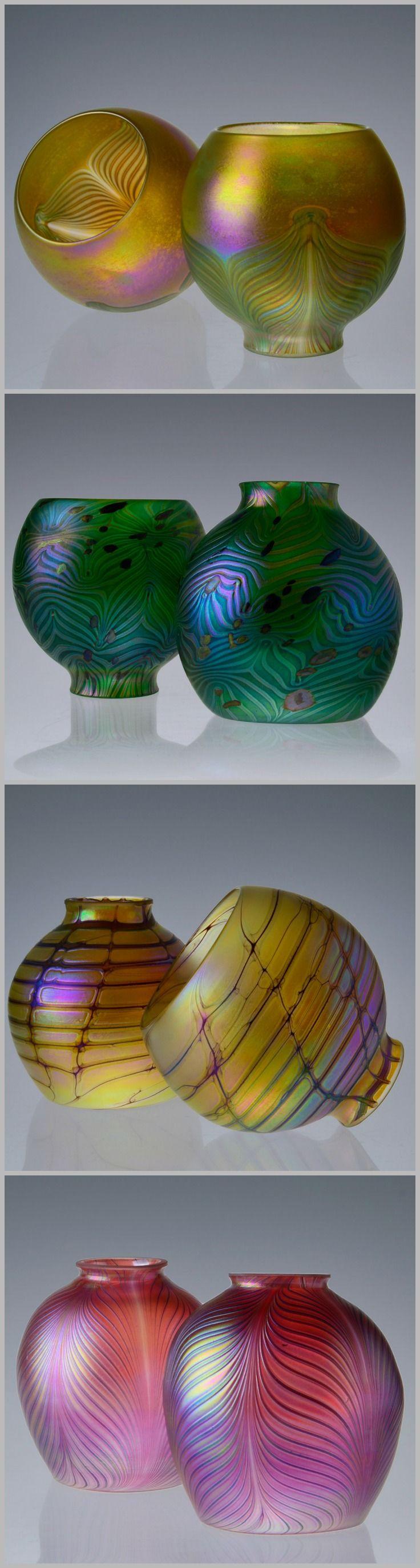 Hand Blown Glass Lamp Shade | Replacement Glass Shade 2.25'' Fitter | Art Nouveau Shades | Bohemian Lamp Shade https://www.etsy.com/shop/IricapeGlass