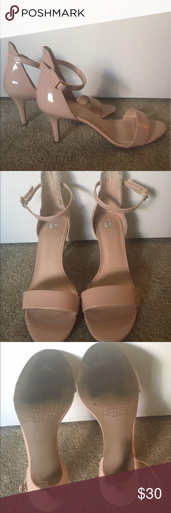 Nordstrom BP nude patent high heel sandals Nordstrom BP nude patent high heel sandals. 8.5. 3 inch heel. Work once. Great basic shoe. bp Shoes Heels