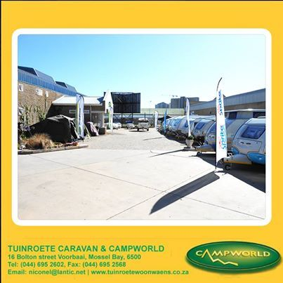 Looking for a new or second-hand Caravan? Then look no further than Tuinroete Woonwaens Campworld MB. We are stockists of all the major brands of new Caravans and trailers. We will trade or buy your used campers as well. #caravaning #camping #outdoors