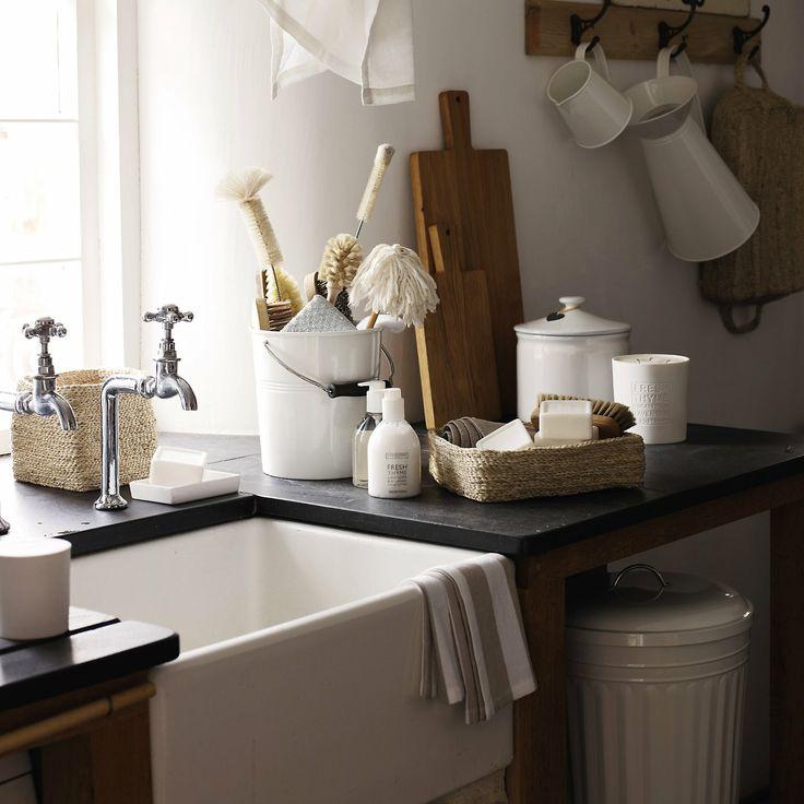 Small Jute Storage Basket - Bathroom Accessories | The White Company