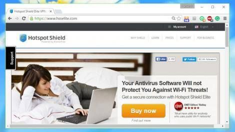 "Review: Hotspot Shield -> http://www.techradar.com/1325597  AnchorFree's Hotspot Shield is a very popular VPN service best known for its free account.  Hotspot Shield Elite is the 18.95 ($25 AU$33) per year extended edition (63.95 lifetime plan  that's $84 AU$112) which drops the ads supports private browsing virtual locations allows ""access all content"" and supports up to five devices.  The service offers a choice of 20 locations including the US UK Australia China Hong Kong India Russia…"