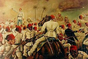 The Anglo-Egyptian War occurred in 1882 between Egyptian and Sudanese forces under Ahmed 'Urabi and the United Kingdom. It ended a nationalist uprising against the khedive Tewfik Pasha and vastly expanded British influence over the country, at the expense of the French.
