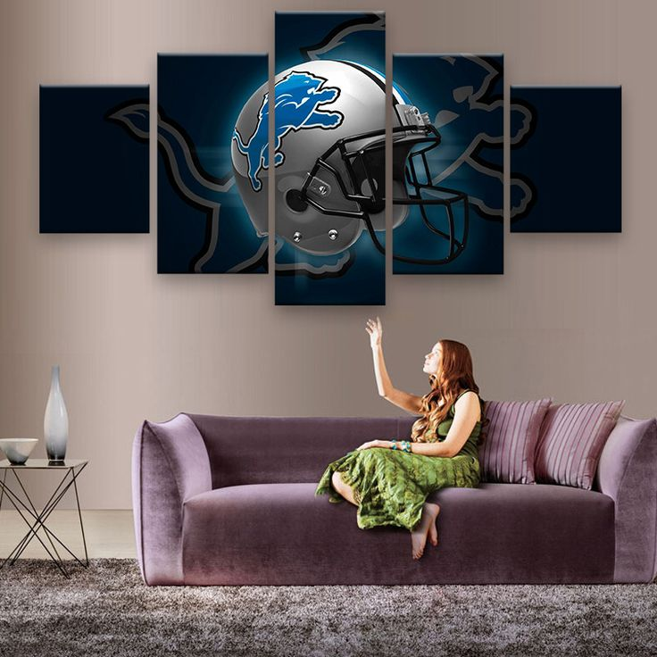 HD PRINTED LIMITED DETROIT LIONS HELMET CANVAS